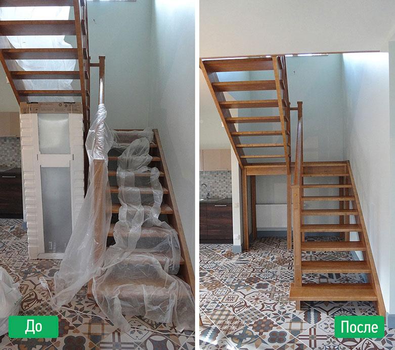 Фото уборка после ремонта до и после