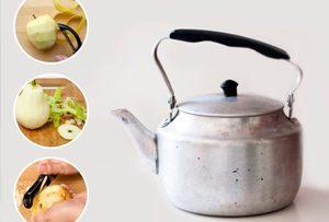 Отчистим чайник от чайного налета